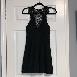 Material Girl Dresses - Fit and Flare Black Dress